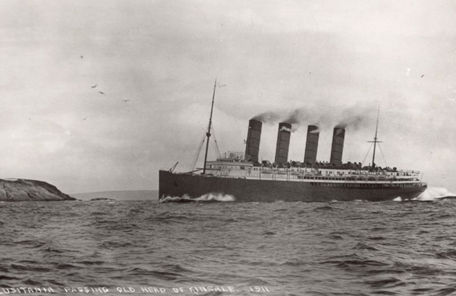 Archive photo of the Lusitania