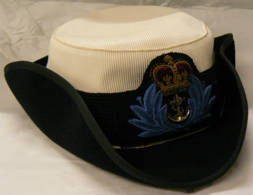 Cap belonging to Chief WRNS Officer, HMS Eaglet, Mis P.G. Stubbs - 1981.730.6