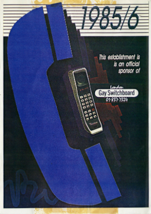 Advert for the Switchboard from 1985