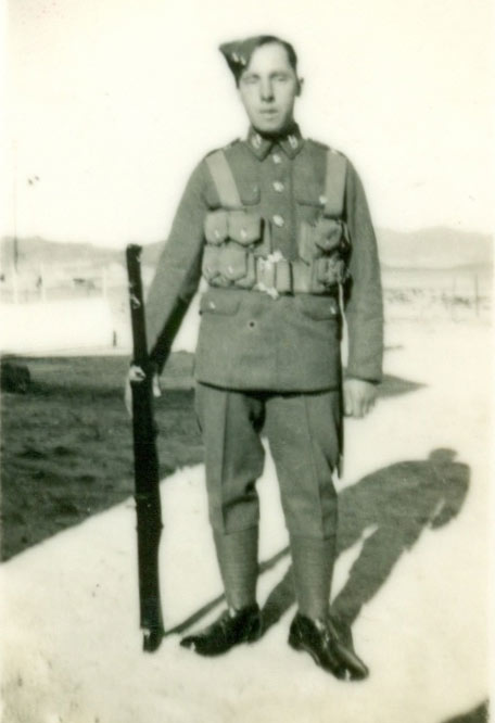 Cyril as a young soldier