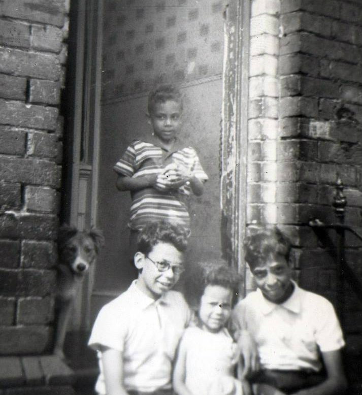 Photo from the early 1960s, Alvin with his siblings. Alvin is on the right.