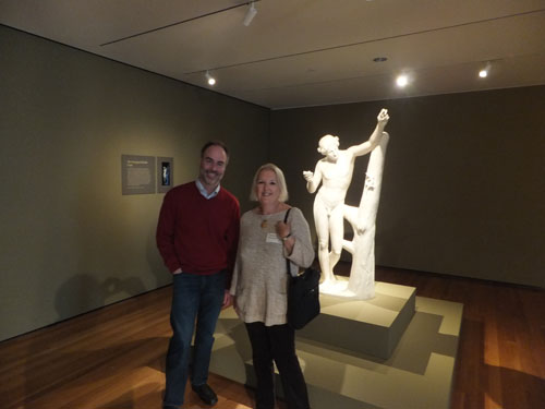 Dr Gina Muskett with Dr Michael Bennett, Cleveland Museum of Art