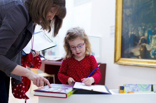 Inspiring future generations in the British Art 1880 - 1950 gallery at the Walker Art Gallery