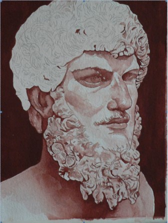 Image of David's painting of the Roman Emperor Lucius Verus