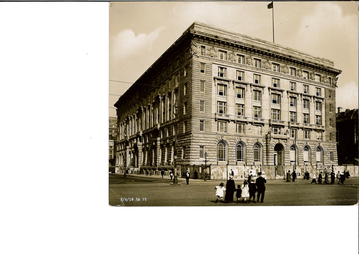 Cunard building virtually completed, dated 8 August, 1916. Credit: Courtesy of National Museums Liverpool (Merseyside Maritime Museum)