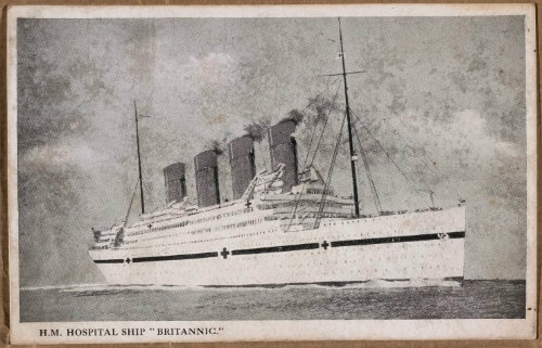Postcard of HMHS Britannic