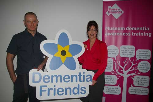 People with the Dementia Friends logo