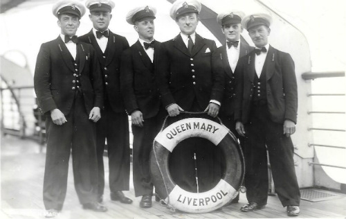 Seafarers group on board RMS Queen Mary