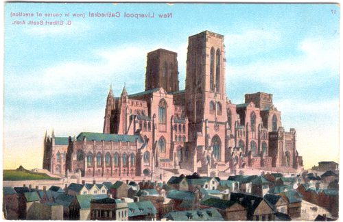 Early design for Liverpool's Anglican Cathedral