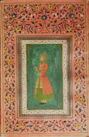 Miniature of a Mughal courtier