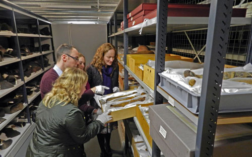 Researchers from Manchester looking at cat mummies.
