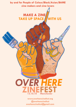 Over here zine fest poster