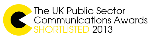 Public sector communication awards shortlist badge