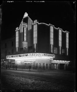 Black and white photo of cinema