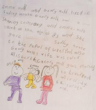 George Holt, his daughter Emma and wife Elizabeth by Eva, Year 2, St. Anthony of Padua Primary School