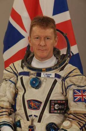 Image of Tim Peake, the European Space Agency's first British astronaut