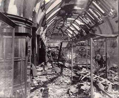 The upper horseshoe gallery after the bombing on the 3rd May 1941