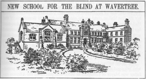 Drawing of the Royal School for he Blind at the Wavertree site
