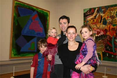 MP and family in gallery
