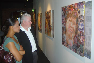 two people in exhibition