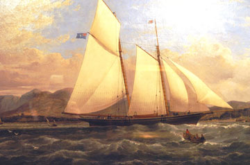 painting of a ship