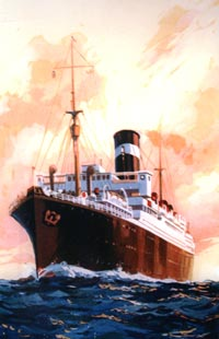 porttrait painting of a large liner