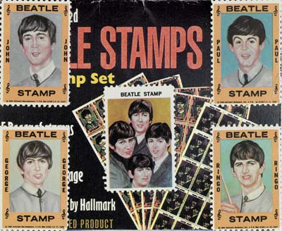 Set of Beatles stamps