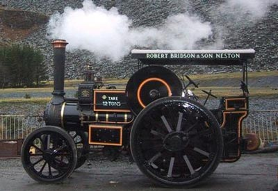 A steam traction engine