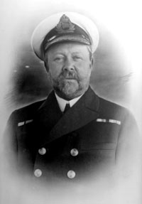 archive photo of a  man in naval uniform