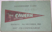 Cavern club membership card