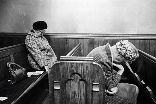 Two ladies asleep in church