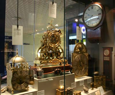 Display of clocks