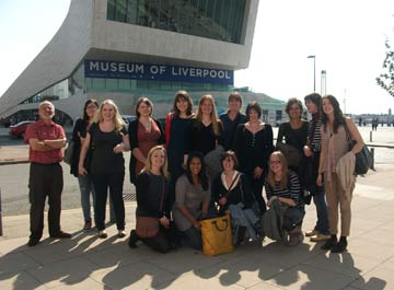 Interns outside the new museum of liverpool