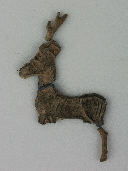 Fragments of a deer, a votive offering from the Sanctuary of Artemis Orthia.