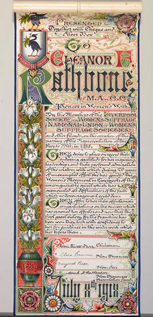 manuscript with decorative borders
