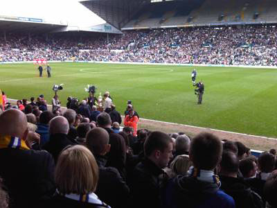 people watching football match at Leeds