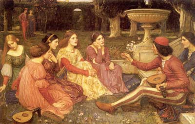 'The Enchanted Garden', John William Waterhouse