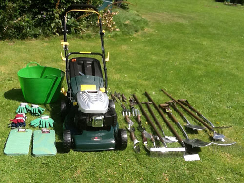 Equipment from Dobbies