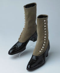 Vintage boots with button detail