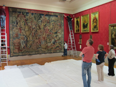 Triumph of Fortitude being rehung