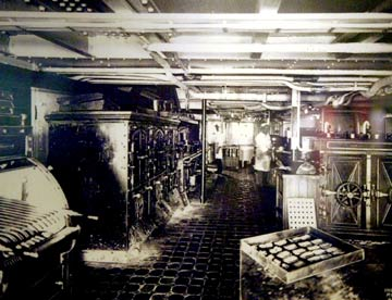 Photo of ship's galley