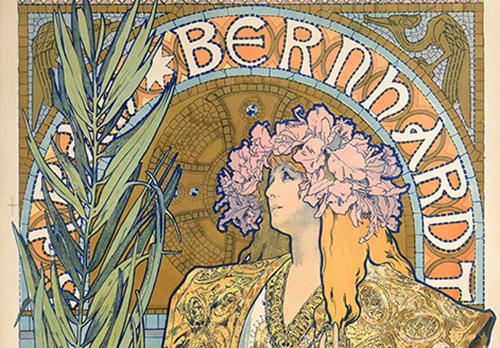 A detail from Gismonda by Alphonse Mucha