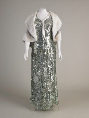 1930s sequinned dress.