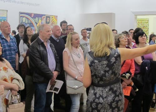 Visitors at Grayson Perry exhibition
