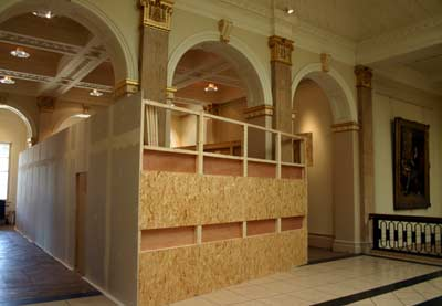 Construction of the Insyde installation at the Walker Art Gallery