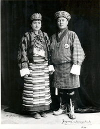Portrait of King and Queen of Bhutan