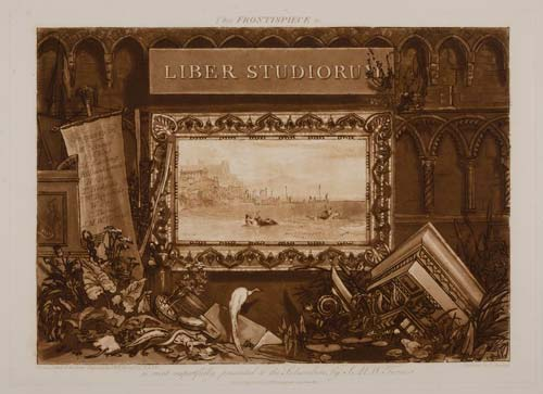 The front piece to the 'Liber Studiorum' collection of prints.