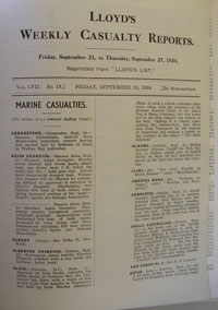 Bound volume of newspaper reports September 1934