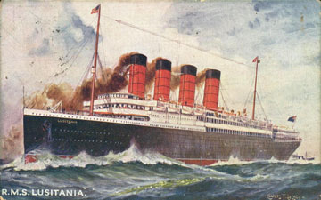 Painting of Lusitania
