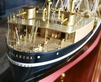 Deck of a ship model